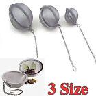 Useful Practical Cook Snap Stainless Steel Mesh Tea Ball Infuser Tea Strainer