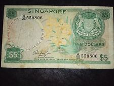 Singapore Orchid $5 HSS w/o seal note