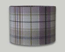 Troon Lavender Purple Cream Beige Tweed Check Tartan Drum Lampshade Lightshade