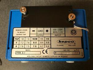 Kepco PRM 8-7, Modular Ferroresonant Power Supply, 100-130VAC, 8 VDC 7A, NOS