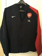 Nike Arsenal Jacket Football Club Full-Zip Soccer O2 Sz Large L Red Navy
