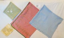 Lot of Vintage Kitchen Linens Table cloth CROSS STITCH GINGHAM LOT GI