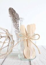 Wooden Cutlery Small Spoons / Wooden Teaspoons / Dessert Spoons  Pk50