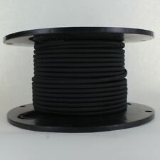 BLACK ~ Parallel Wire ~ Rayon Covered ~ Antique Style Cloth Lamp Cord ~ 25 Feet