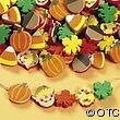 40 Fall Harvest Leaves Scarecrow Fun Foam Beads Child