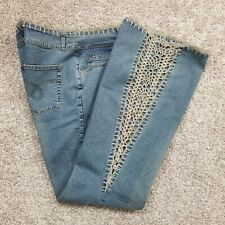 Vintage Armor Jeans Knitting Lace Hem and  Side Legs Jeans 11/12