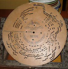 Antique Cardboard disc for Accordion Norma Bellini No 270 ehrlics Patent