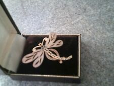 brooch with box Vintage Fish dragonfly