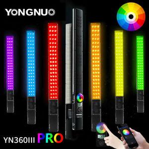 YONGNUO YN360III PRO LED video light RGB handheld Light Stick 3200-5500K Remote
