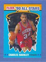 1990-91 Fleer Charles Barkley All-Star Sticker #1 Mint Condition & Well Centered