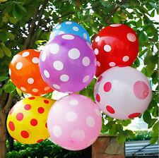 "10Pcs 12""/30cm Polka Dots Spots Balloons For Birthday Party Festival Decoration"