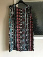 Ladies Multicoloured Dress by Warehouse Size 16