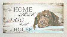 Labrador, Chocolate, Casa de Perro y otras razas disponibles de placa de casa