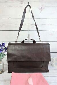 """RADLEY """"Border"""" Large Work Laptop Shoulder Flap Bag Oxblood Leather ~ Dust Bag"""