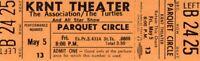 THE ASSOCIATION~THE TURTLES 1967 TOUR KRNT UNUSED CONCERT TICKET-ORANGE-NM~MINT