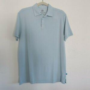 NWT TORI RICHARD Light Teal Blue Short Sleeve Polo Shirt - Men's Size Small
