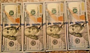 2009-A and 2013 $100 United States Federal Reserve Star Notes: Lot of Four Notes