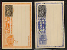 Guatemala  2    3 cent  different postal cards unused          MA0730