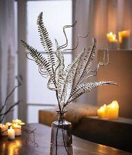 4 Stück Blätterpick mit weißen Blüten 22cm CG Kunstzweig künstliche Zweige