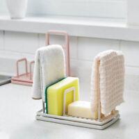 Kitchen Organizer Dish Cloths Drain Rack Clean Sponge Holder Rag Storage Shelf~