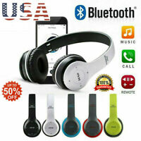 Wireless Bluetooth Headphones Foldable Stereo Earphones Super Bass Headset MicMA