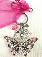 PERSONALISED INITIAL BUTTERFLY KEYRING BIRTHDAY CHRISTMAS GIFT LETTER