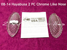 08-18 HAYABUSA GSXR 1300 CHROME LIKE NOSE SCREENS GRILLS INTAKE VENTS MESH