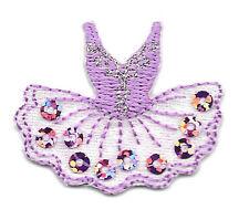 Ballet - Tutu - Dance - Lavender W/Sequins Iron On Applique Patch