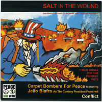 """CARPET BOMBERS FOR PEACE; JELLO BIAFRA; CONFLICT 'Allah Save Queens' 2003 7"""" new"""
