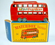 "MATCHBOX RW 56a filobus RUOTE argentate Top in ""D"" BOX"