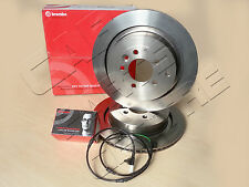 FOR LAND ROVER RANGE ROVER SPORT DISCOVERY 3 4 REAR BREMBO DISCS PADS SENSOR 350