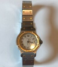 CARTIER Santos Octoganal Ladies Swiss Automatic 18k and Stainless Steel Watch