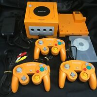 Nintendo GameCube Spice Orange Console with Controller set (NTSC-J)