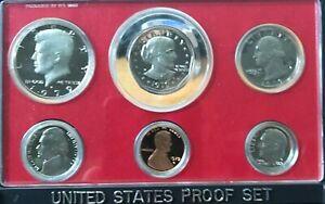 1979 - S US Mint Proof Set 6 coins w/ Original Government Packaging Box