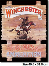 Winchester Express Rider Tin Metal Sign 939 Postage Discounts 2-12 signs $15
