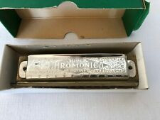 VINTAGE M HOHNER HARMONICA THE SUPER CHROMONICA CHROMATIC