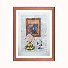 Charlie Brown e SNOOPY VS edvard Munch-L' URLO-DIZIONARIO ART PRINT Home