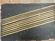 10 Antique Brass Stair Rods Runner Vintage