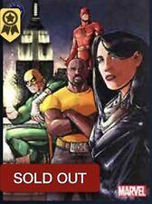 Topps Marvel Collect ORIGINAL ART WAVE 3 AWARD - DEFENDERS
