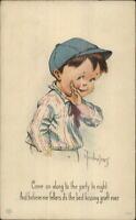 Charles Twelvetrees Boy Newsboy Hat KISSING GRAFT c1915 Postcard