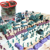 500pcs Army Base Set WWII Playset 4cm Army Men Action Figures & Accessories