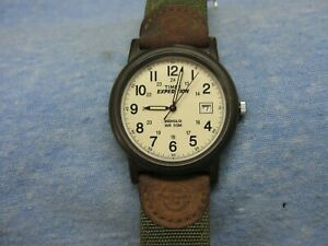 """Men's TIMEX """"Expedition"""" Water Resistant Military Watch w/ Indiglo & New Battery"""
