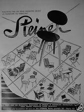 PUBLICITÉ 1954 SIÈGES STEINER EXIGEZ LA SIGNATURE DU FABRIQUANT- ADVERTISING