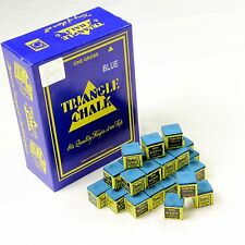 12 Pieces BLUE Triangle Snooker Pool Chalk - Worlds Most Popular Chalk!