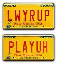 Better Call Saul / Jimmy McGill / LWYRUP + PLAYUH *STAMPED* Prop License Plates