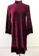 Y.A.S. XS Romantic Velvet Dress Hippie Boho NEW $119.00 Burgundy Wine Color