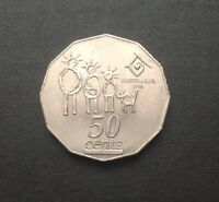 1994 AUSTRALIAN 50 CENT COIN - YEAR OF THE FAMILY NARROW DATE VARIETY