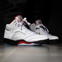 Nike Air Jordan 5 Retro Fire Red White Black V AJ5 Men Women Kid Toddler Pick 1