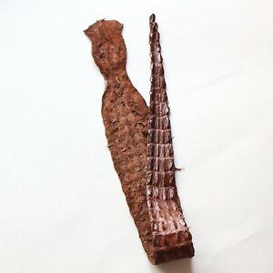 Genuine Crocodile hide skin leather Craft Supply Supple 2 colors