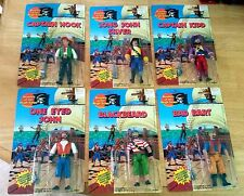 Vintage 1990 Imperial Pirates of the High Seas Action Figure Lot of 6 Unopened!